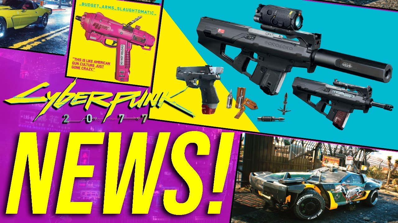 """Cyberpunk 2077 News - 29 Vehicle Models & """"Countless"""" Variants, Borg & Disposable Weapons & More! thumbnail"""