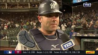 Austin Romine on setting career highs and Didi Gregorius' rowing