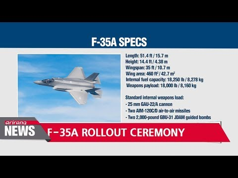 First S. Korean F-35A stealth fighter aircraft makes public debut at rollout ceremony