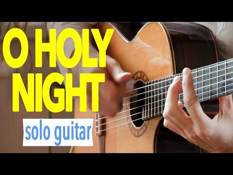 O Holy Night TAB Cantique de Noël Minuit Chrétiens Acoustic Classical Fingerstyle Guitar Cover