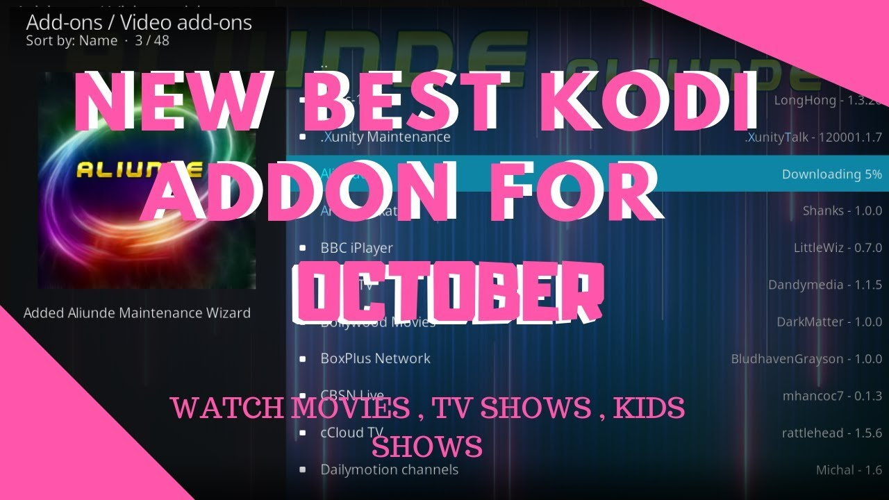 New Best KODI Addon For Movies , Tv Shows & Kids 🔥OCTOBER UPDATE