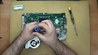 как разобрать и собрать ноутбук Asus K751SJ   Ремонт