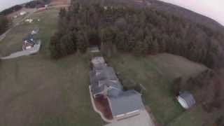 Flying my H4 Hornet Quad Copter around my house with my GoPro Hero 3