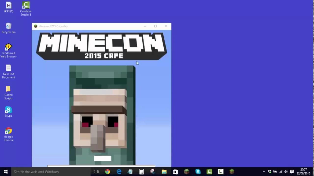 minecon cape 2015 free