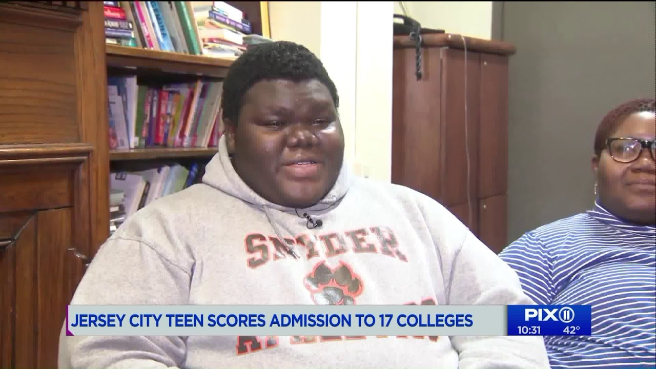 Formerly homeless NJ teen accepted to 17 colleges