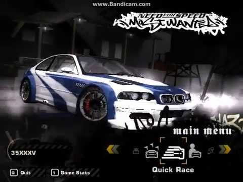 Nfs Most Wanted Bmw M3 Gtr E46 274 Mph Youtube