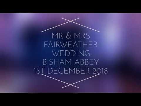 Mr & Mrs Fairweather - Wedding 1st December 2018