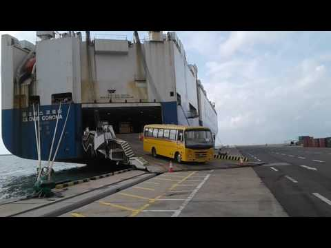 Vehicle ship. .from SRILANKA PORTS AUTHORITY Colombo