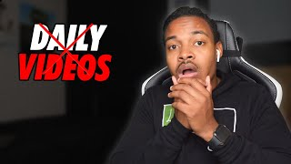 Why I stopped Uploading Videos Daily
