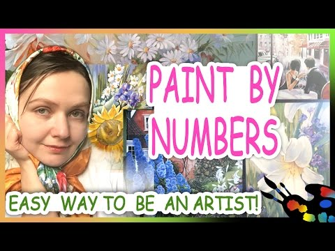 How to Paint by numbers! Tutorials and tips for beginner! DIY!