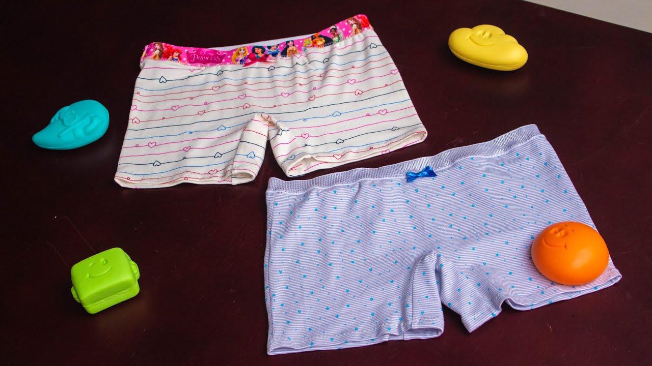 Panty boxer para niña lindo y fácil de hacer/Patrones gratis tallas 6-8-10-12/Confección paso a paso