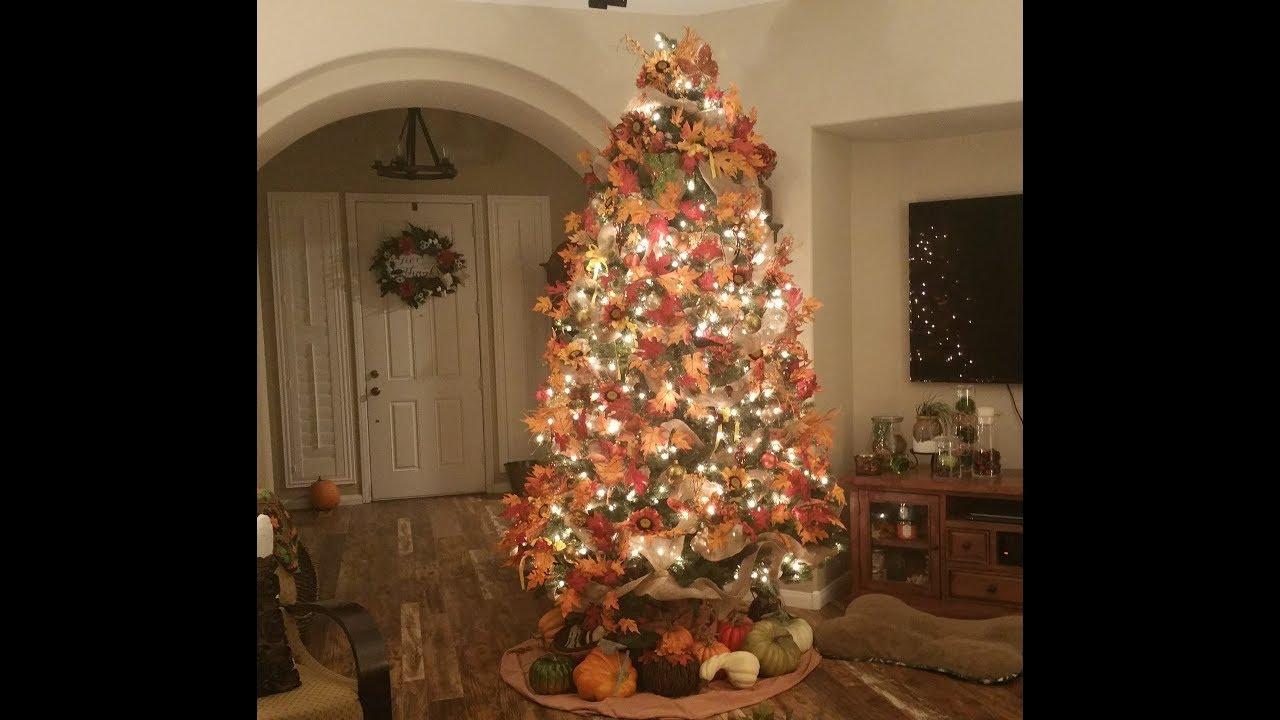 Time Lapse Fall/Thanksgiving Style Christmas Tree Aka