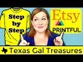 Printful Etsy Integration - How to List Step by Step  - How to List Printful Shirts on Etsy