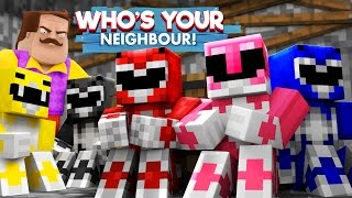 Minecraft Who's Your Daddy - HELLO NEIGHBOUR TAKES THE POWER RANGERS!