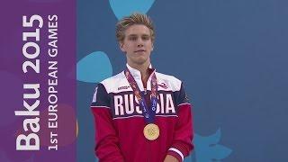 Pakhomov wins Gold in Men's 200m Butterfly | Swimming | Baku 2015 European Games