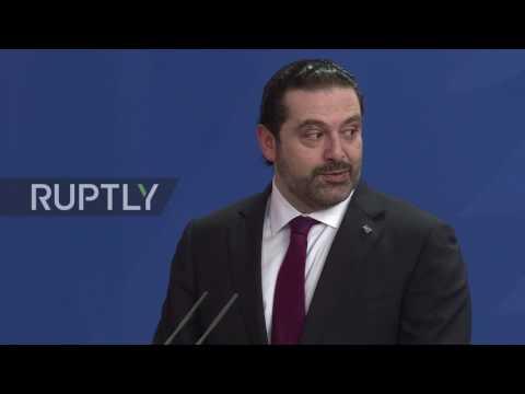 Germany: Merkel praises Lebanon for taking in Syrian refugees