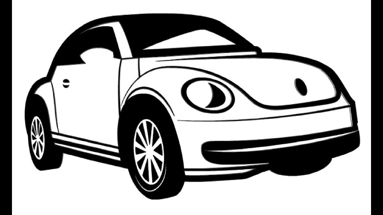how to draw a volkswagen beetle volkswagen beetle