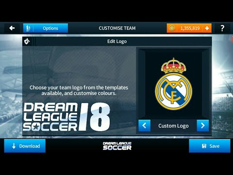 Dream League Soccer 2020 How To Make Real Madrid Team Kit & Logo DLS20.