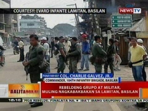 BT: Rebeldeng grupo at militar, muling nagkabakbakan sa Lamitan, Basilan