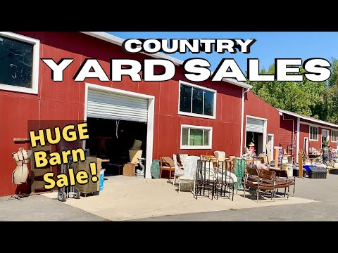 Country YARD SALES | BARN SALES | Vintage & Antiques | September 2021   YouTube