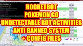 New Rocketbot Pokemon Go GUI Undetectable Bot Walk Path Sniper System Pokemon Item Management