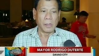 Pananampal ni QC Mayor Bautista sa isa umanong drug pusher, sinang-ayunan ni Mayor Duterte