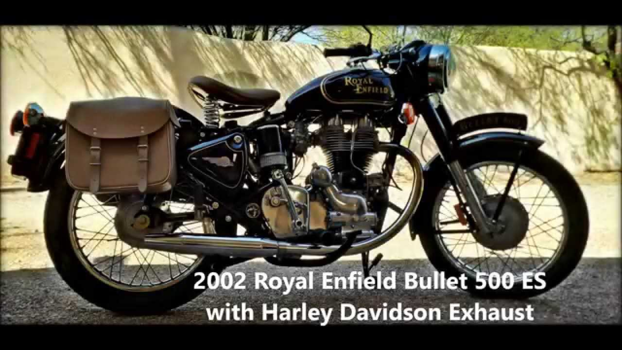 2002 Royal Enfield Bullet 500 With Harley Davidson Exhaust Youtube