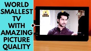 Worlds Smallest TV with Amazing Picture Quality   Best mini Portable TV with HDMI Port