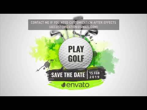 Sport Golf Logo Opener | After Efects Project Files - Videohive template