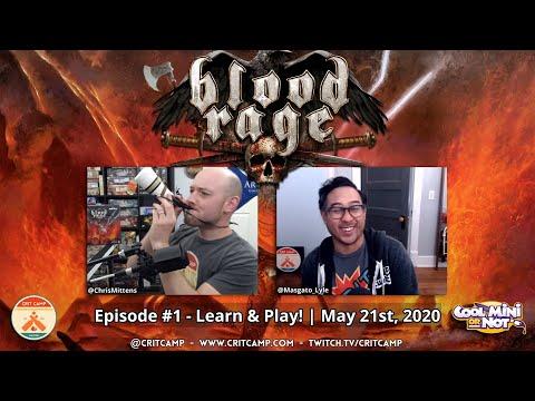 Blood Rage EP1 - Learn & Play Via Tabletop Sim - Crit Camp