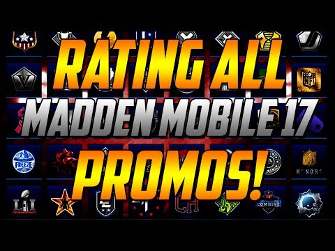 RATING ALL MADDEN MOBILE 17 PROMOS!-MAKE MM18 BETTER!
