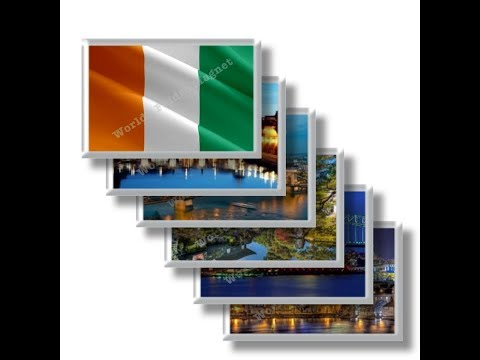 CI - Travel in IVORY COAST - rectangular magnets and souvenirs