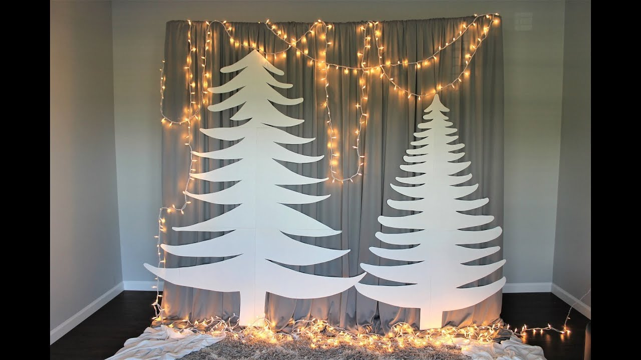 Easy Affordable Christmas Backdrop Diy How To