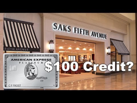 How To Use Saks $100 AMEX PLATINUM Credit?