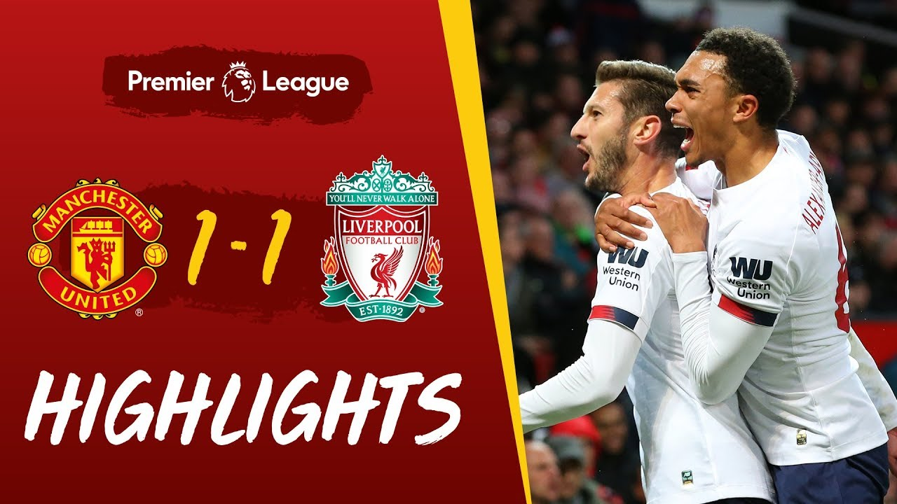 Man Utd 1 1 Liverpool Late Leveller At Old Trafford Highlights Youtube