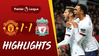 Manchester Utd 1-1 Liverpool | Late leveller at Old Trafford | Highlights