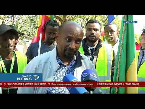 Ethiopians living in SA march to their embassy in Pretoria