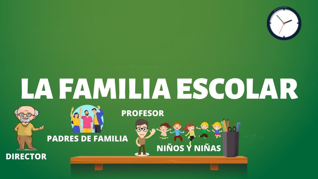 🎓LA FAMILIA ESCOLAR [Personal Social] - YouTube
