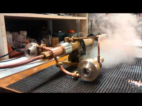 Prototype Steam Turbine Engine Test Run. (Wolfgang Engineering)