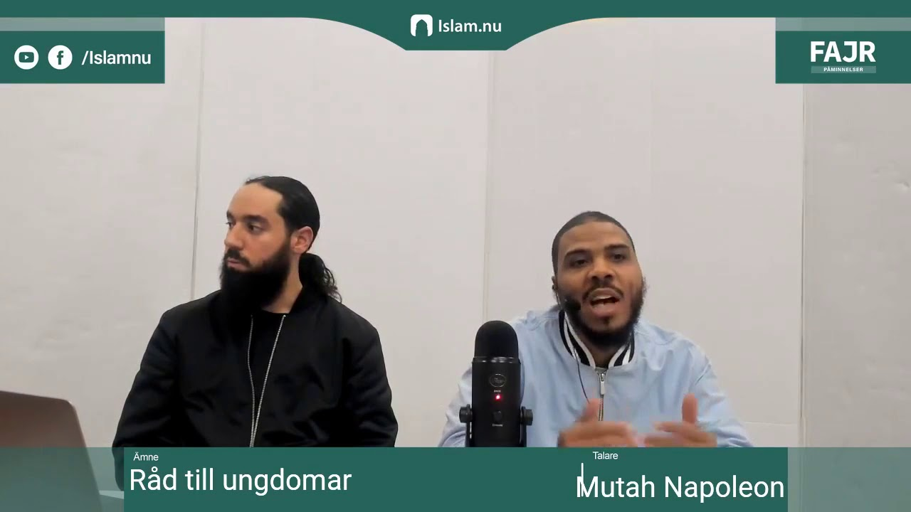 "Råd till ungdomar | Fajr påminnelse med Mutah ""Napoleon"" Beale"