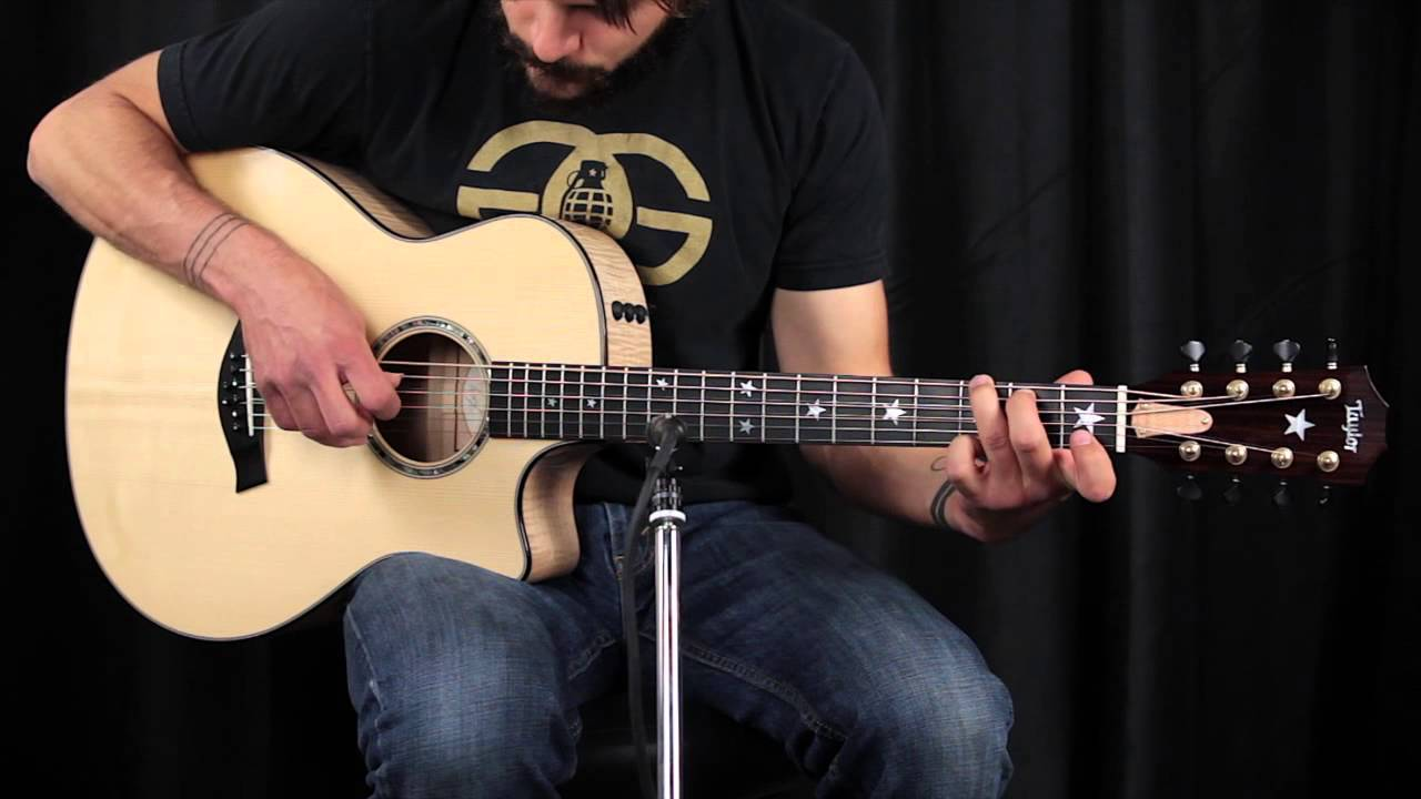 taylor custom 8 string baritone how does it sound youtube. Black Bedroom Furniture Sets. Home Design Ideas