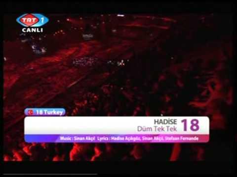 Düm Tek Tek / Hadise 54. Eurovision Final Turkey