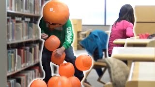 Dropping Pumpkins In The Library! - Pranks Compilation (Ep. 18)
