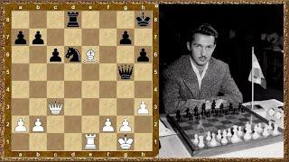 Шахматы обучение. Слон сильнее коня! Глигорич - Портиш, 1965