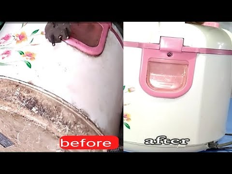 how to clean the rice cooker //kitchen equipment nano_Tech