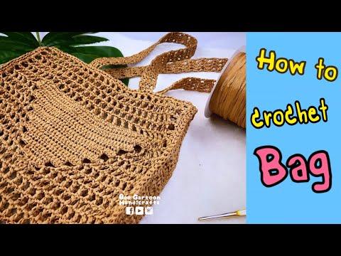 How to crochet bag : กระเป๋าถัก : Prada Video Tutorial Ep.01