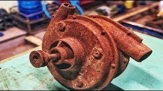 Restoration wind thruster Two-door metal old | Restore ship engine tools rusty