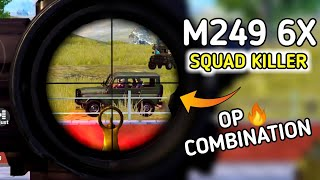 M249 better than Groza ? - G Guruji - solo vs squad Gameplay - Pubg mobile Hindi Gameplay