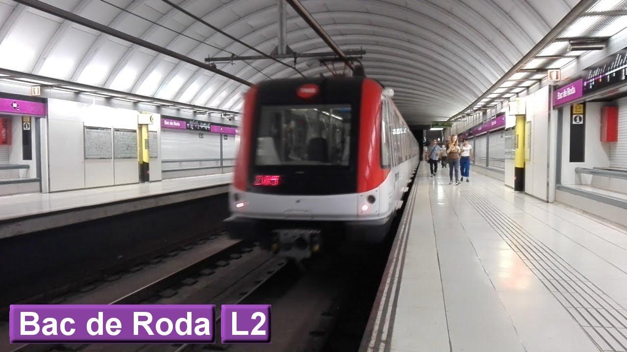 Barcelona metro bac de roda line 2 tmb 9000 youtube for Gimnasio bac de roda