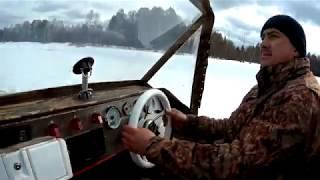 Аэролодка Берег 35 Зимой Рыбалка выходного дня Тест новой рамы